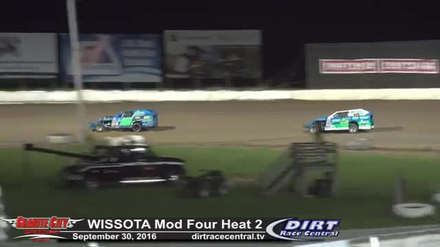 Granite City Speedway 9/30/16 WISSOTA Mod Four Races