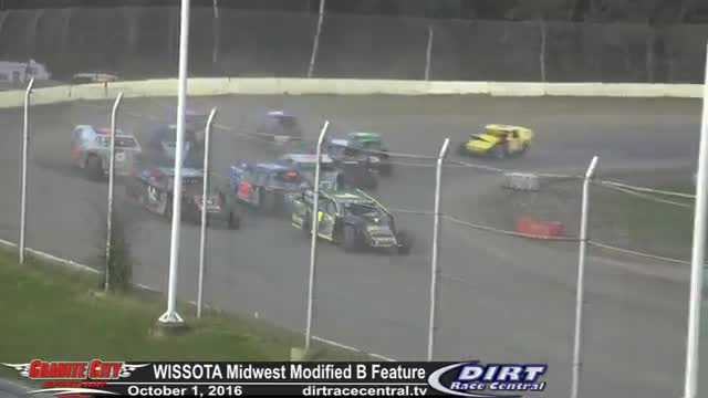 Granite City Speedway 10/1/16 WISSOTA Midwest Modified Races