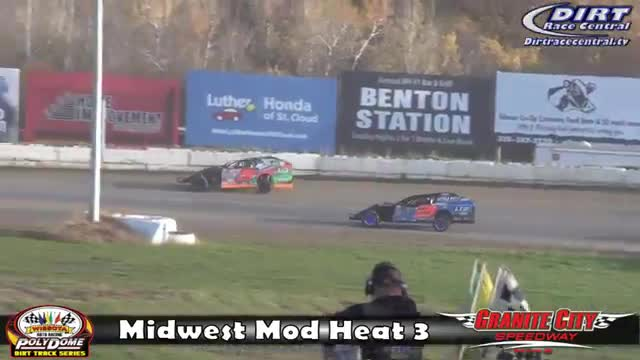 Granite City Speedway 10/15/16 WISSOTA Midwest Modified Races