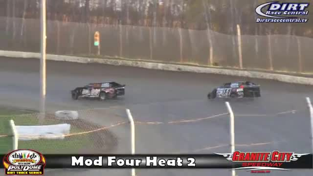 Granite City Speedway 10/15/16 WISSOTA Mod Four Races