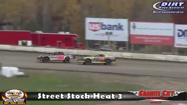 Granite City Speedway 10/16/16 WISSOTA Street Stock Races