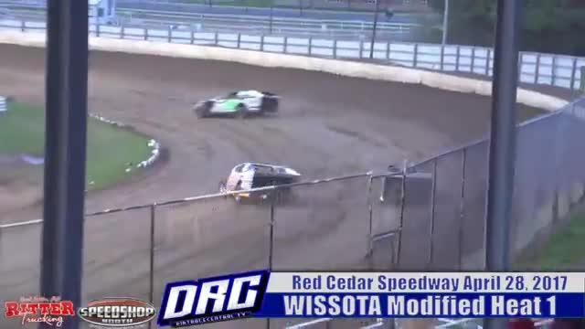 Red Cedar Speedway 4 28 17 WISSOTA Modified Races