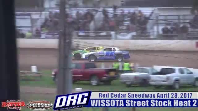 Red Cedar Speedway 4/28/17 WISSOTA Street Stock Races