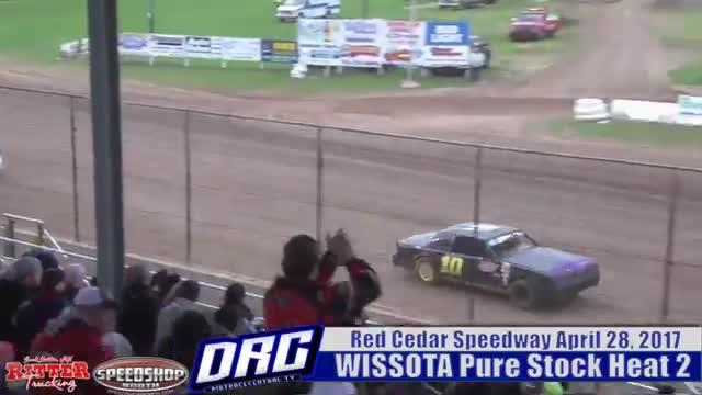 Red Cedar Speedway 4/28/17 WISSOTA Pure Stock Races