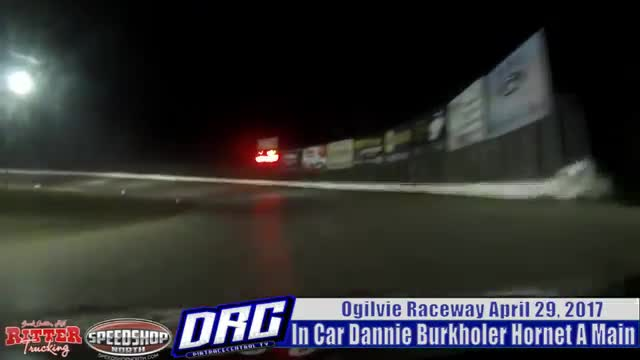 In Car Dannie Burkholder 4/28/17 Ogilvie Raceway Hornet Races