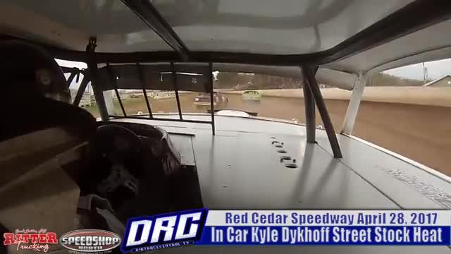 In Car 4/28/17 Kyle Dykhoff Red Cedar Speedway Street Stock Heat Race