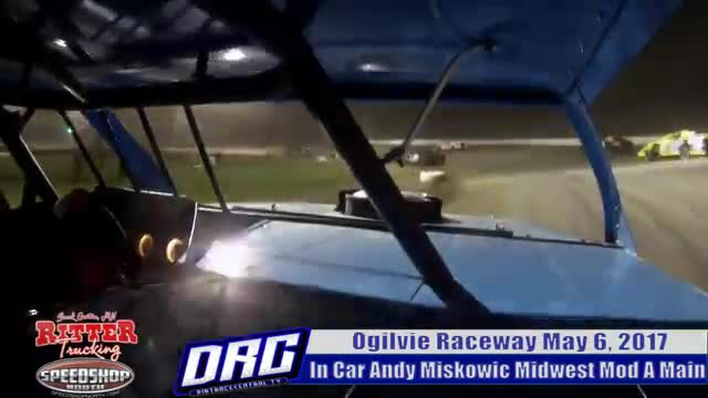 In Car Andy Miskowic 5/6/17 Ogilvie Raceway WISSOTA Midwest Mod Races