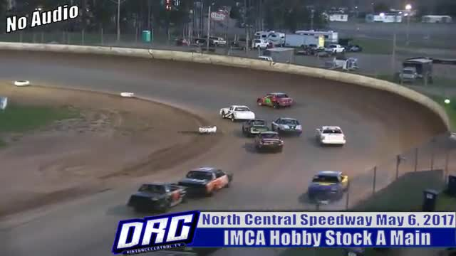 North Central Speedway 5/6/17 IMCA Hobby Stock A Main (NO AUDIO)