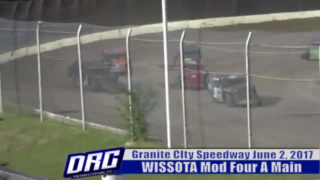 Granite City Speedway 6/2/17 WISSOTA Mod Four Races