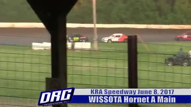 KRA Speedway 6/8/17 WISSOTA Hornet A Main