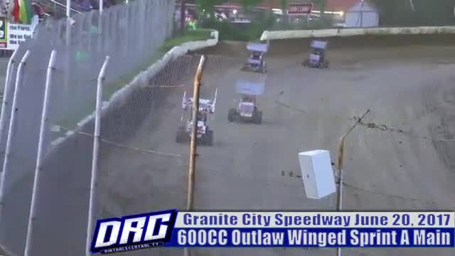 Granite City Speedway 6/20/17 600CC Outlaw Winged Sprint Car Races