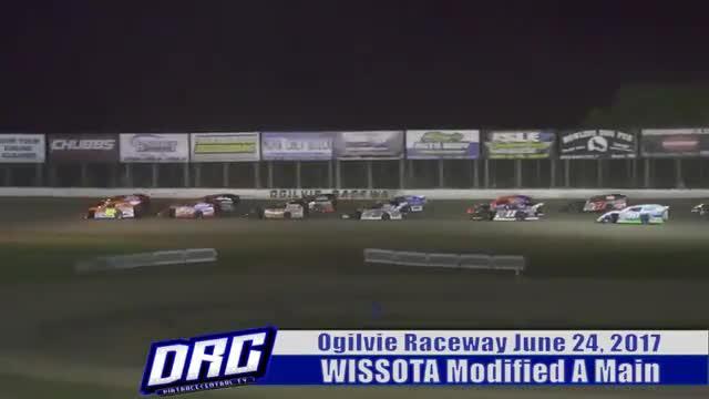 Ogilvie Raceway 6/24/17 WISSOTA Modified Races