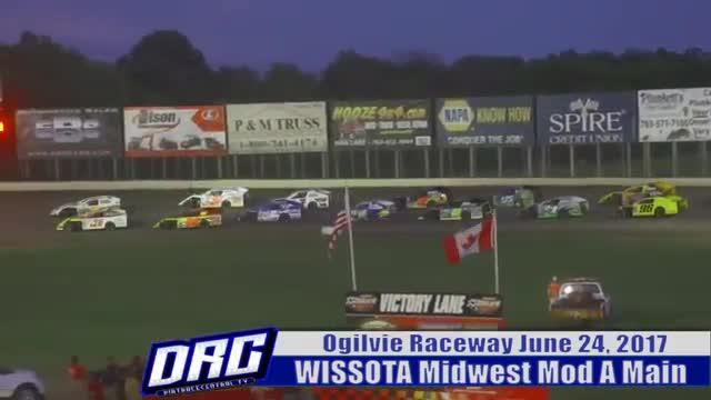 Ogilvie Raceway 6/24/17 WISSOTA Midwest Modified Races