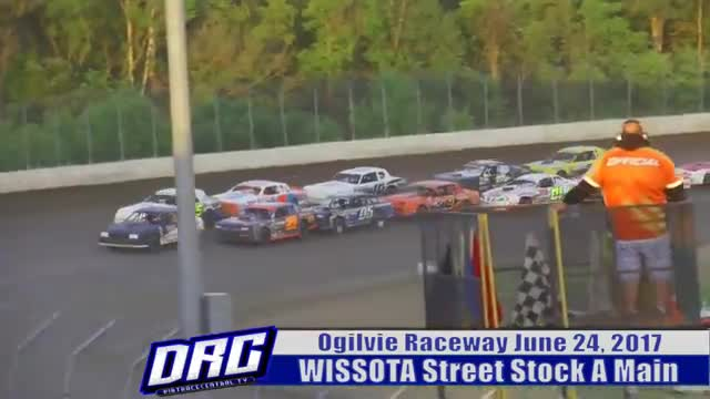 Ogilvie Raceway 6/24/17 WISSOTA Street Stock Races