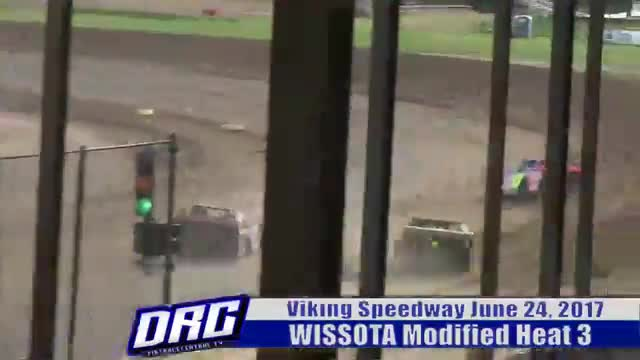 Viking Speedway 6/24/17 WISSOTA Modified Races
