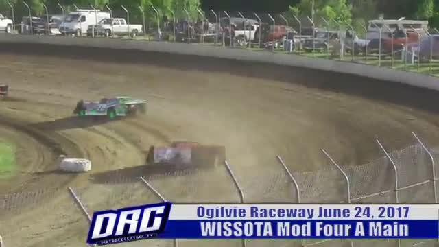 Ogilvie Raceway 6/24/17 WISSOTA Mod Four Races