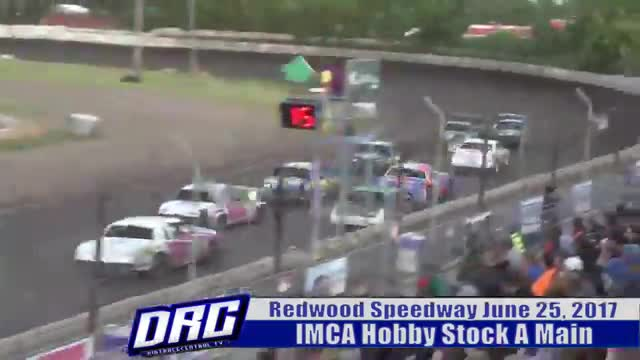 Redwood Speedway 6/25/17 IMCA Hobby Stock Races