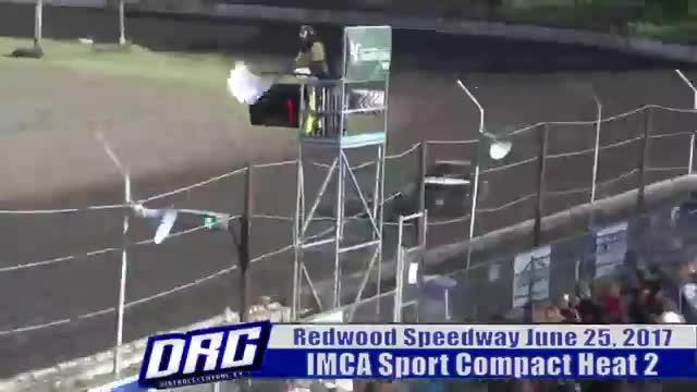 Redwood Speedway 6/25/17 IMCA Sport Compact Races