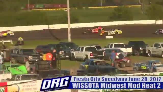 Fiesta City Speedway 6/28/17 WISSOTA Midwest Modified Races