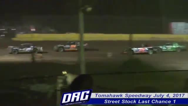 Tomahawk Speedway 7/4/17 Races