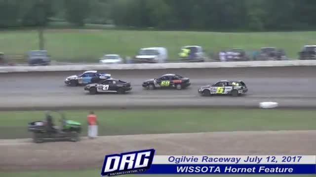 Ogilvie Raceway 7/12/17 WISSOTA Hornet Races