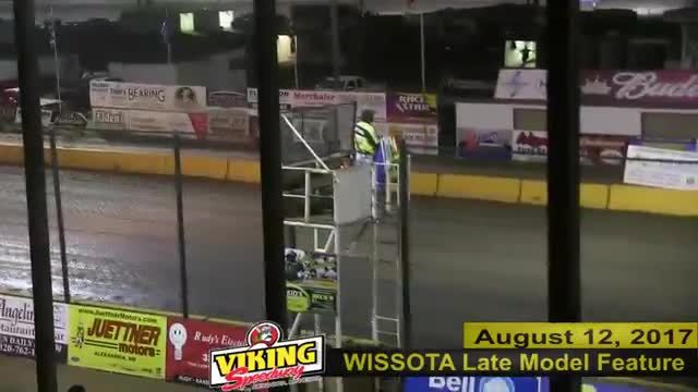 Viking Speedway 8/12/17 WISSOTA Late Model Races