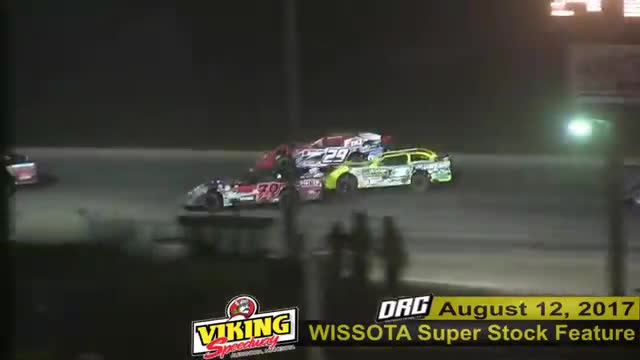 Viking Speedway 8/12/17 WISSOTA Super Stock Races