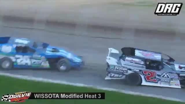 Ogilvie Raceway 6/23/18 WISSOTA Modified Races
