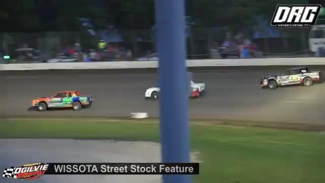 Ogilvie Raceway 6/23/18 WISSOTA Street Stock Races