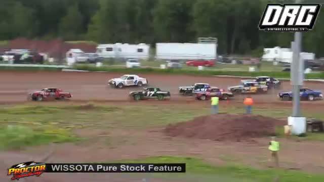 Proctor Speedway 7/22/18 WISSOTA Pure Stock Races