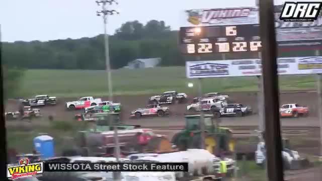 Viking Speedway 8/4/18 WISSOTA Street Stock Races