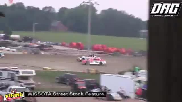 Viking Speedway 8/11/18 WISSOTA Street Stock Races
