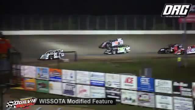 Ogilvie Raceway 8/18/18 WISSOTA Modified Races