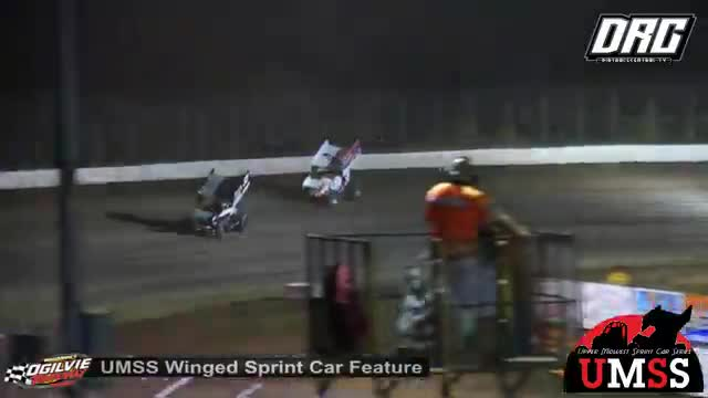 Ogilvie Raceway 8/18/18 UMSS Winged Sprint Car Races