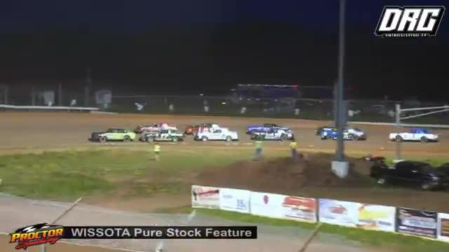 Proctor Speedway 8/19/18 WISSOTA Pure Stock Races