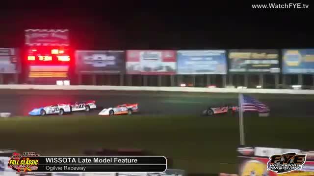 Ogilvie Raceway 10/6/18 WISSOTA Late Model Races