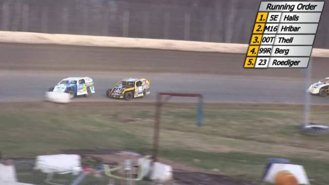 Ogilvie Raceway April 25, 2015 WISSOTA Mod Four Races