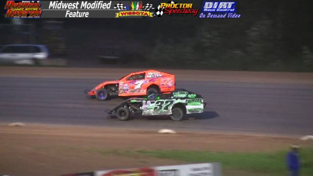 Proctor Speedway August 16, 2015 WISSOTA Midwest Modified Feature 40 Laps