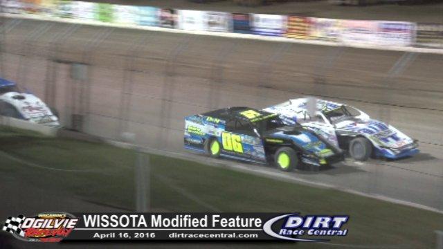 Ogilvie Raceway 4/16/16 WISSOTA Modified Feature Race