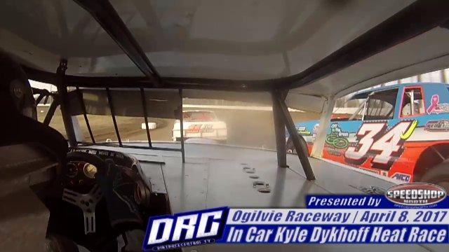 Ogilvie Raceway 4/8/17 In Car Kyle Dykhoff WISSOTA Street Stock