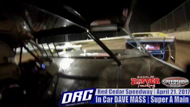 In Car Dace Mass 4/21/17 Red Cedar Speedway WISSOTA Super Stock A Main