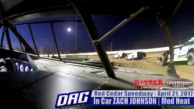 In Car Zach Johnson 4/21/17 Red Cedar Speedway WISSOTA Modified Races