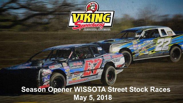 Viking Speedway 5/5/18 WISSOTA Street Stock Races