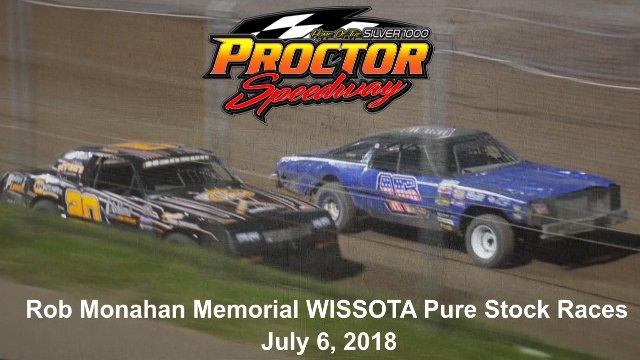 Proctor Speedway 7/6/18 WISSOTA Pure Stock Races