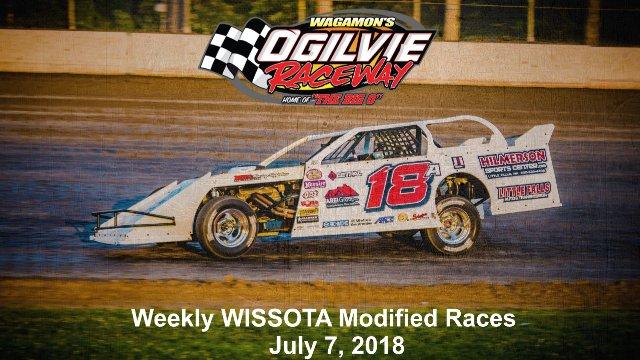 Ogilvie Raceway 7/7/18 WISSOTA Modified Races