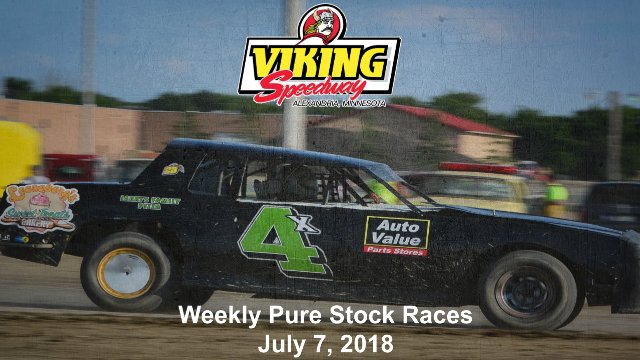 Viking Speedway 7/7/18 Pure Stock Races