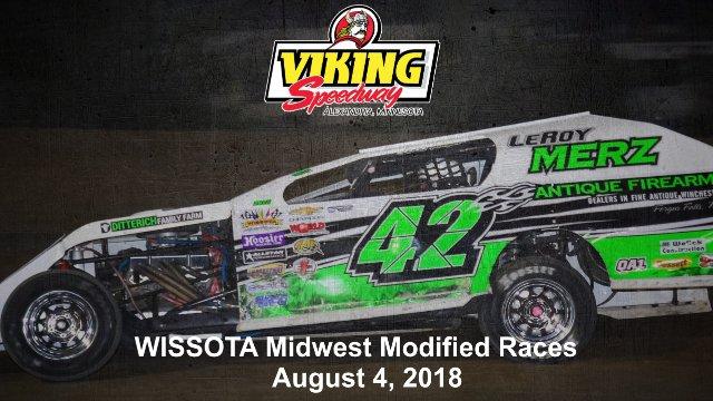Viking Speedway 8/4/18 WISSOTA Super Stock Races