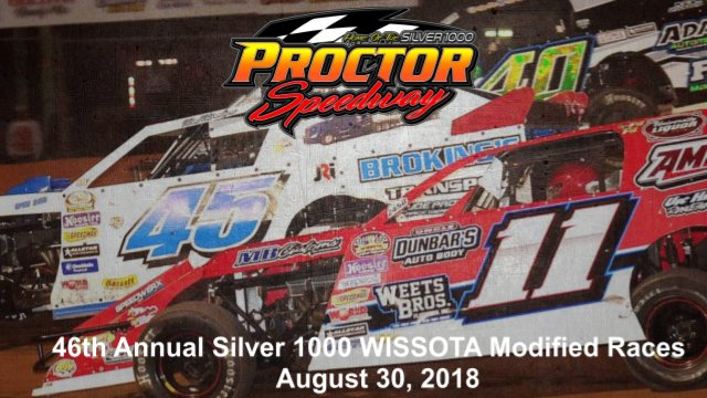 Proctor Speedway 8/30/18 WISSOTA Modified Races