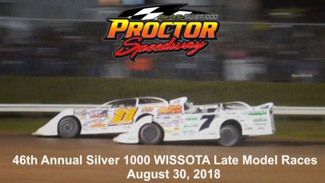 Proctor Speedway 8/30/18 WISSOTA Late Model Races
