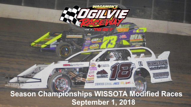 Ogilvie Raceway 9/1/18 WISSOTA Modified Races